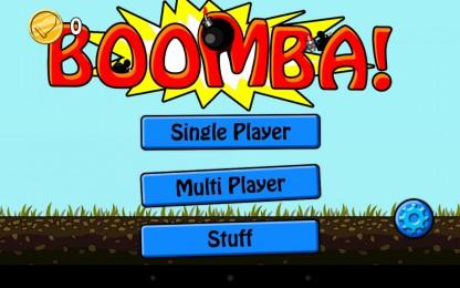 BOOMBA! - главное меню с выбором режима игры