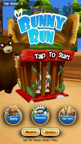 Bunny Run – убегающий кролик для Android
