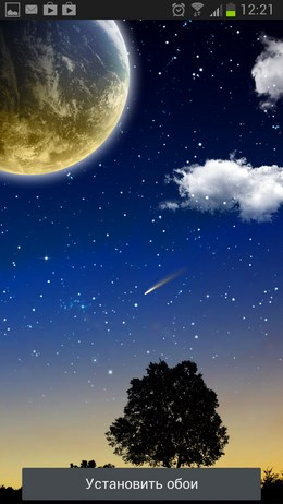 Falling Stars Live Wallpaper – ночной звездопад для Android