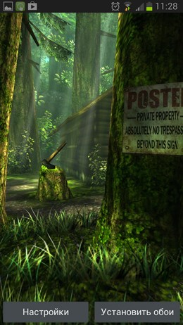 Forest HD – реалистичный лес для Android