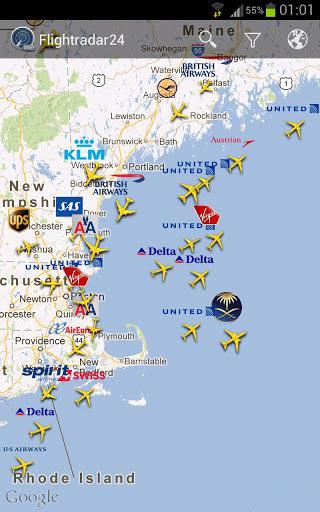 Расписание самолетов Flightradar24 Pro на Андроид