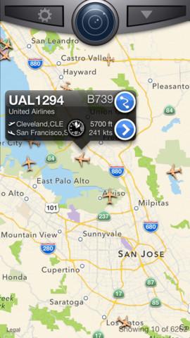 Статус полета Flightradar24 Pro на Андроид