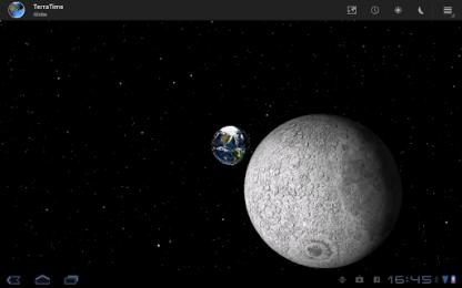 вид с луны на Землю