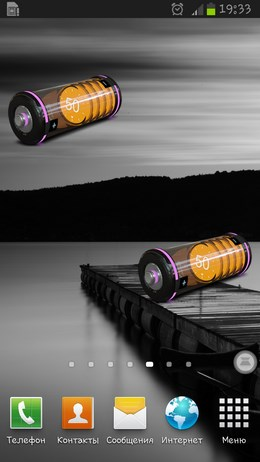 3D Design Battery Widget R2 – трехмерная батарейка для Android