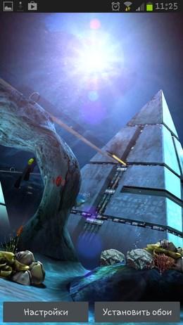 Atlantis 3D Pro Live Wallpaper – подводная тайна для Android