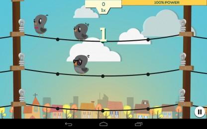 Circuit Panic - птички на проводах. Аркада для Samsung Galaxy