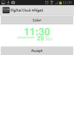 Digital Clock Widget – интересные часики для Android