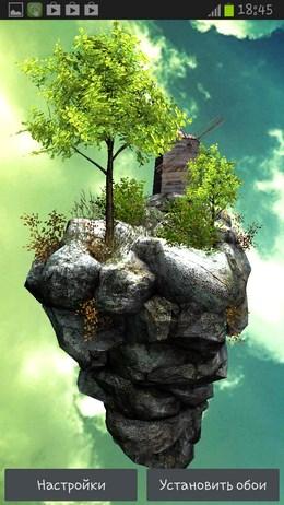 FlyIsland Free 3D – воздушный остров для Android