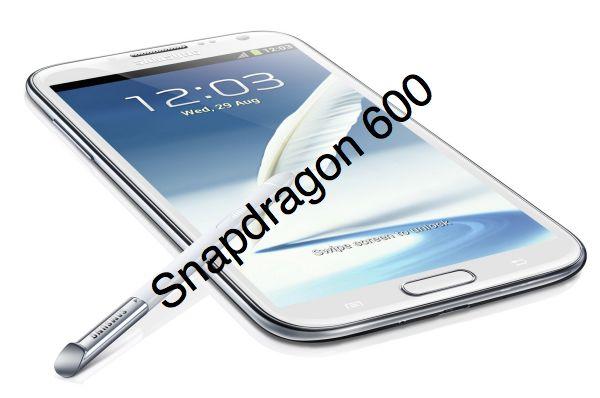 Ожидается модификация Galaxy Note II с процессором Snapdragon 600