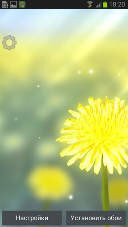 Galaxy S4 Yellow – поле одуванчиков для Android