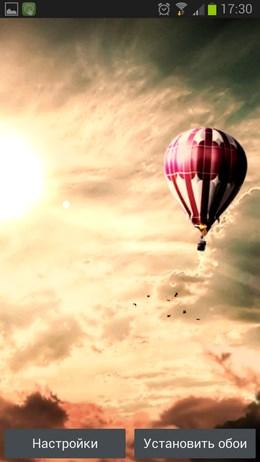 Hot Air Balloon Live Wallpaper - воздушный шар для Android