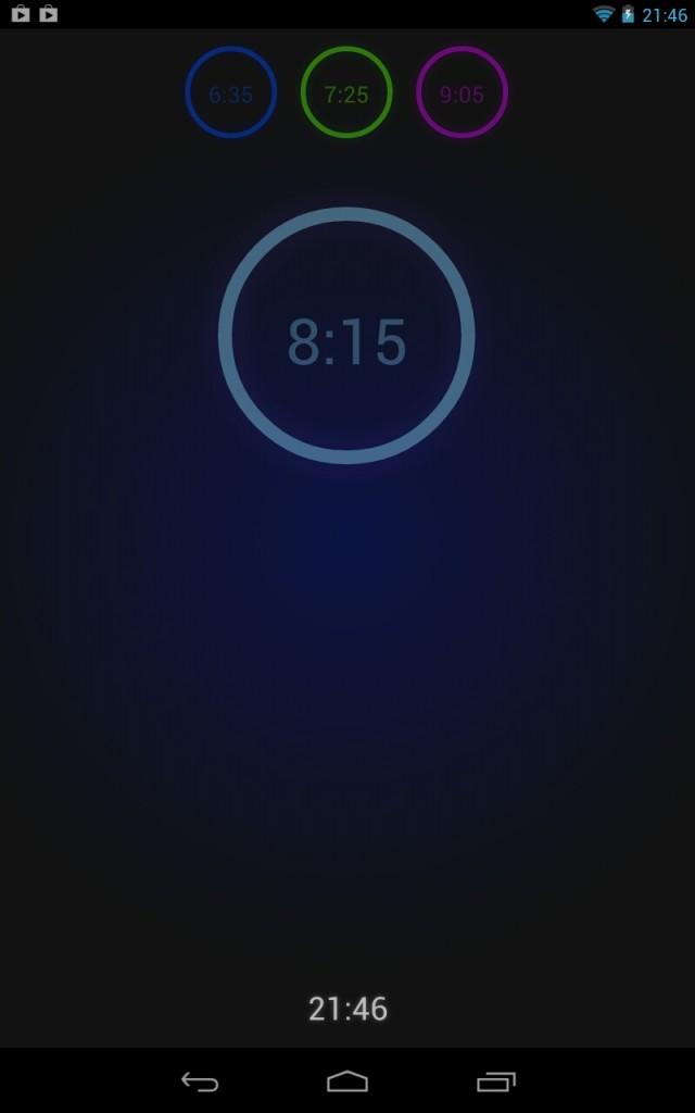 Neon Alarm Clock - будильник в неоновом стиле для Samsung Galaxy