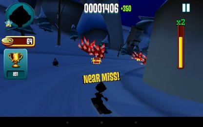 Skiing Fred - Фред опять удирает от смерти. Аркада для Galaxy