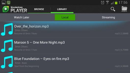 Wondershare Player – обширное мультимедиа для Android