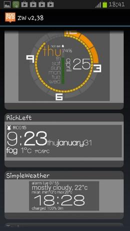 Zooper Widget – набор минималистичных виджетов для Android