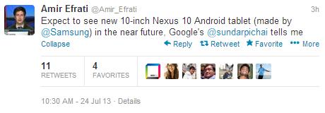 Samsung совместно с Google работают над новым поколнением Nexus 10