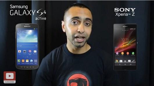 Видеосравнение Samsung Galaxy S4 Active и Sony Xperia Z