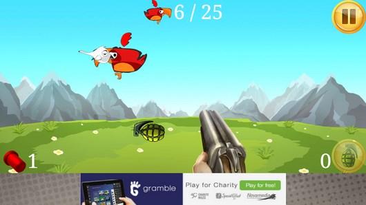 Angry Shooter – охота на попугайчиков