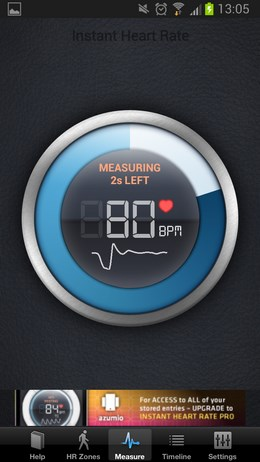 Instant Heart Rate – проверка пульса для Android