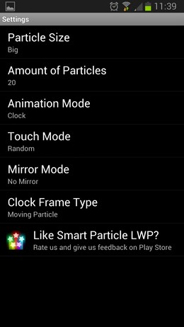 Smart Particle Live Wallpaper – движение частиц