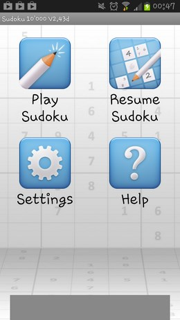Sudoku 10000 – головоломки судоку для Android