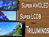 Видео сравнение Triluminos экранов Triluminos, LCD 3 и Super AMOLED