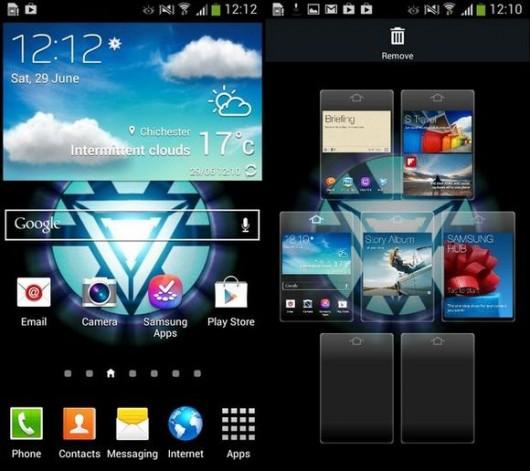 Интерфейс смартфона Samsung Galaxy S4 mini
