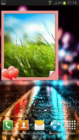 Animated Photo Frame Widget – виджет-фоторамка