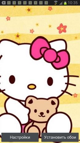 Hello Kitty 3D Cool Wallpaper – темы с милым котенком