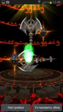 Next Sword 3D Livewallpaper – клинки и топоры