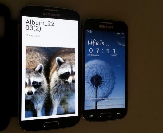 Сравниваем габариты Samsung Galaxy S4 и Samsung Galaxy S4 mini