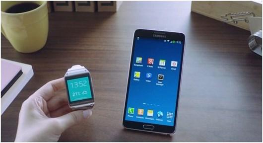 Видео с работой Galaxy Note 3 и Galaxy Gear