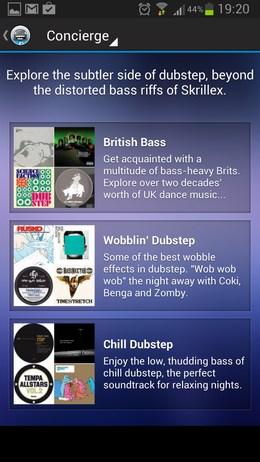 Songza – музыка настроения