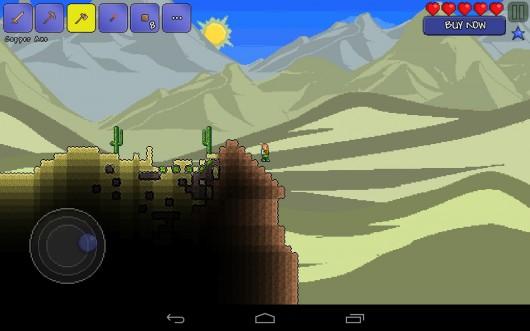 Terraria - долгожданная 2D-песочница на Samsung Galaxy