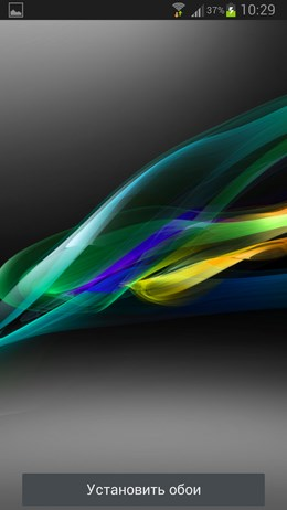 Xperia Z1 Live Wallpaper HD – цветовой поток