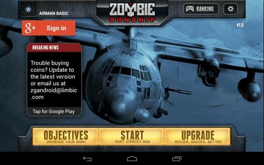 Zombie Gunship - мочим зомби с высоты птичьего полета на Samsung Galaxy
