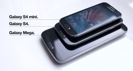 Визуальное различие Galaxy S4, Galaxy S4 mini и Galaxy Mega