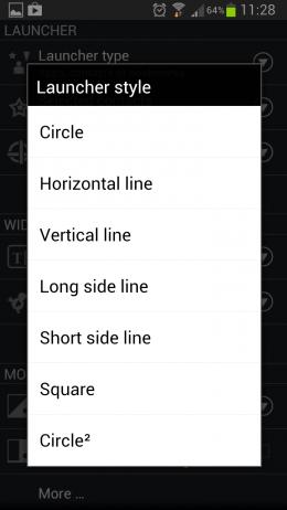 CircleLauncher – группировка контактов и приложений