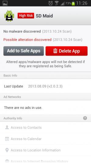 LINE Antivirus – защита гаджета