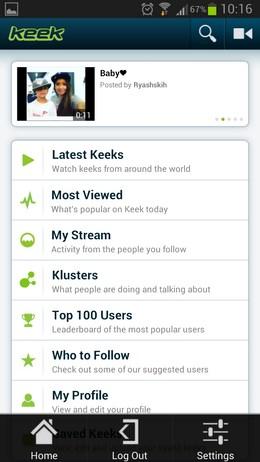Keek – социальные видео