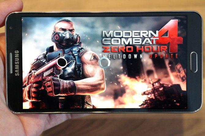 Тест Samsung Galaxy Note 3 на производительность в самых популярных играх