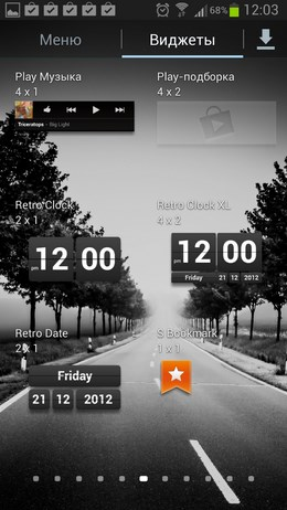 Виджет с перекидными часами Retro Clock Widget для Android