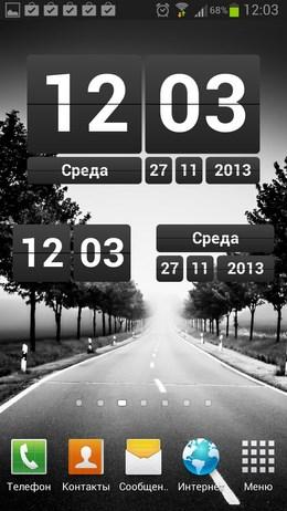 Виджет с перекидными часами Retro Clock Widget для Android
