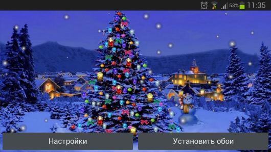 Обои Новогодняя елка - тличное украшение для Android