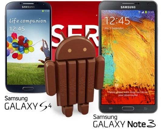 Android 4.4 KitKat для Samsung Galxy S4 и Galaxy Note 3 уже в январе