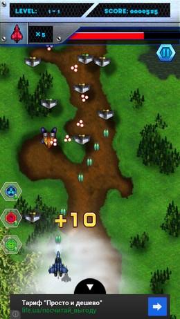 Воздушные сражения в игрушке Counter Attack 2 для Android