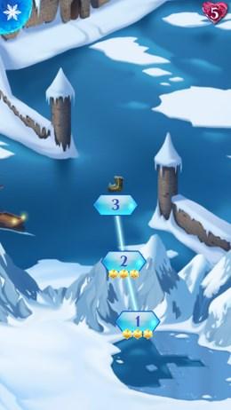 Чудесная головоломка Холодное Сердце по три в ряд для Android