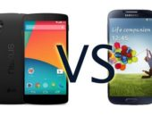Видео сравнение Google Nexus 5 vs Samsung Galaxy S4