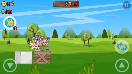 Помогите корове сбежать из фермы в аркаде Run Cow Run для Android