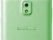 телефон зеленого цвета вид сзади
